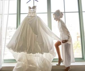 ball gown, bridal, and bride image