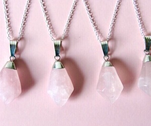 pink, crystal, and necklace image