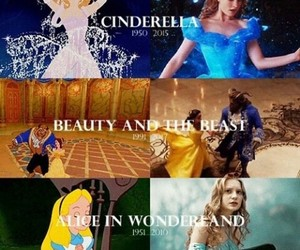alice in wonderland, beauty and the beast, and cinderella image
