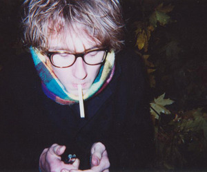 boy, glasses, and cigarette image