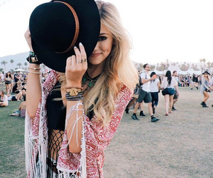 girl, coachella, and hat image