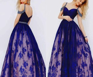 blue, dress, and sherri hill image