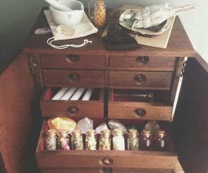 cabinet, witch, and witchcraft image