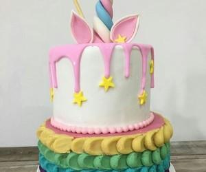 cake, cakes, and unicorn image