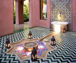 interior, decor, and morocco image