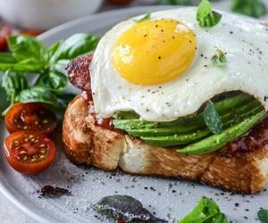 avocado, food, and egg image