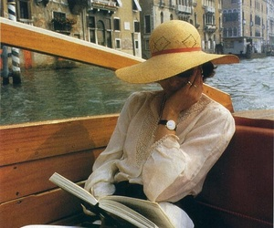 book, venice, and hat image