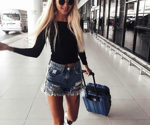 girl and airport image