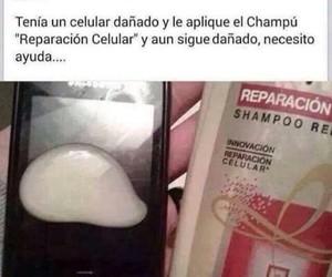 celular, facebook, and shampo image