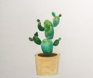art, cactus, and plant image