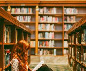 book, library, and ginger image