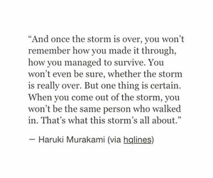 haruki murakami, quotes, and storm image