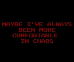 chaos, dark, and quotes image