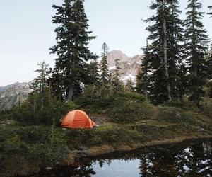 camp, camping, and goals image