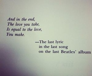 love, beatles, and Lyrics image