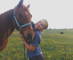 country, flowers, and horses image