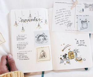 journal, art, and bullet journal image