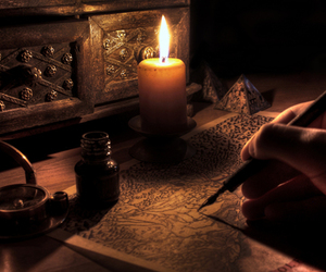 candle and book image