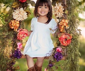 child, kids, and flower image