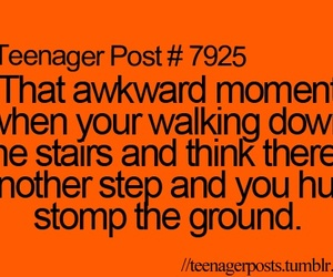 teenager post, stairs, and funny image