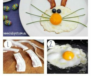 breakfast, easter, and easter bunny image