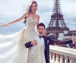 paris, wedding, and couple image