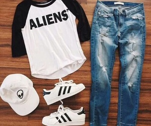 outfit, aliens, and fashion image