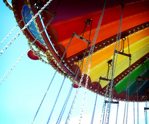 circus, playground, and colourful image