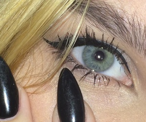 black, blonde, and eye image