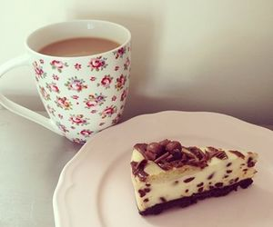 floral, mug, and pie image