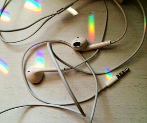music, rainbow, and love image