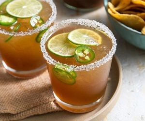 drink, food, and margarita image