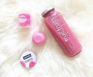 drink, raspberry rose, and nivea lip butter image