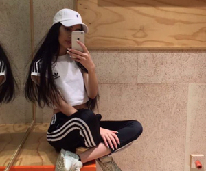 girl, adidas, and boy image