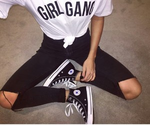 black, jeans, and converse image