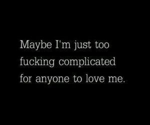 love, quotes, and complicated image