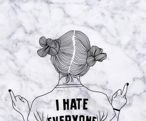 hate, outline, and tumblr image