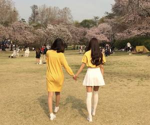 spring, ulzzang, and yellow image