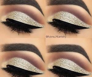 eyebrow, eyeshadow, and woman image