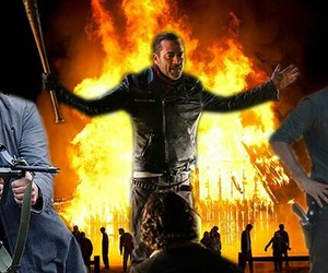 jeffrey dean morgan, the walking dead, and andrew lincoln image