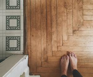 hardwood floor and toes image