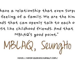 kpop, quote, and mblaq image