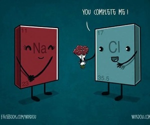 love, chemistry, and nacl image