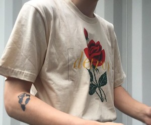 aesthetic, rose, and grunge image