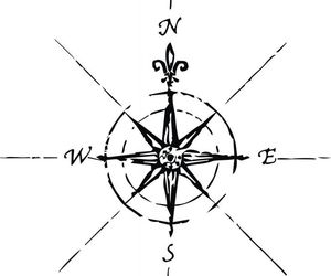 compass, east, and south image