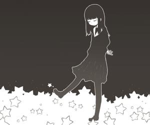stars, girl, and anime image