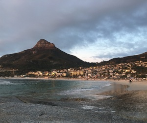 beach, travelling, and capetown image