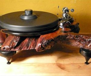 brown, turntables, and music image