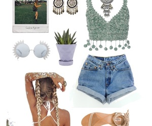 braids, cactus, and coachella image