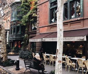 autumn, Brooklyn, and cafe image